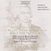 Violin Concertos by Black Composers of the 18th & 19th C