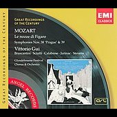 Mozart: Le nozze di Figaro K 492, Symphonies no 38-39 / Gui, Bruscantini, Sciutti, Cu&eacute;nod, Jurinac, et al