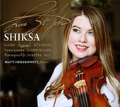 Shiksa - Original songs and improvisations from Armenia, Palestine, the Jewish Diaspora, Russia, Macedonia, Serbia, Greece, Romania, and Hungary / Lara St. John, violin; Matt Herskowitz, piano