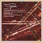 Spohr: Violin Concertos WoO 9 & 10, etc /Hoelscher, Fr&#246;hlich