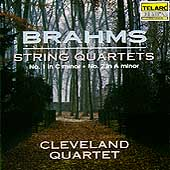 Brahms: String Quartets no 1 & 2 / Cleveland Quartet