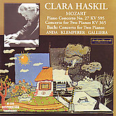 Mozart, Bach: Two-Piano Concertos, etc / Haskil, Anda