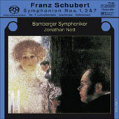 Schubert: Symphonies no 1, 3 & 8 / Nott, Bamberg SO