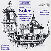 Soler: Harpsichord Quintets no 4-6 / David Schrader