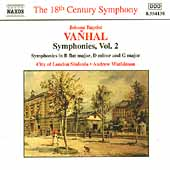 The 18th Century Symphony - Vanhal Symphonies Vol 2