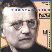 Shostakovich: Complete Songs Vol 1 / Buryukova, Serov, et al