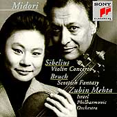 Sibelius: Violin Concerto;  Bruch / Midori, Mehta, Israel PO