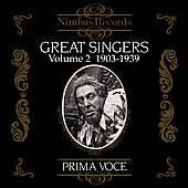 Prima Voce - Great Singers Vol 2 (1903-1939)