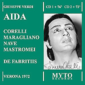 Verdi: Aida / Fabritiis, Corelli, Maragliano, Nave, et al