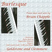 Chapple: Burlesque for Two Pianos, Sonata for Piano, etc / Anthony Goldstone, Caroline Clemmow