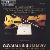 Brahms: Sonatas for Violin and Piano / Sparf, Westenholz