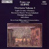 Suppé: Overtures Vol 3 / Walter, Slovak State PO