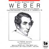 Weber: Grand Duo Concertante, Quintet, etc / Luc Fuchs