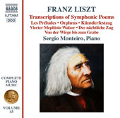 Liszt: Transcriptions of Symphonic Poems / Sergio Monteiro, piano