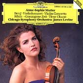 Berg: Violin Concerto;  Rihm: Time Chant / Mutter, Levine
