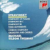 Stravinsky: Symphony Of Psalms, etc / Tilson Thomas