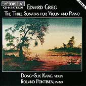 Grieg: The Three Sonatas for Violin & Piano / Kang, Pöntinen