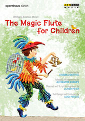 Mozart: The Magic Flute, for children (English & Japanese version) / Peter Kálmán, Katsunori Kono, Franziska Rabl, Rebeca Olvera, Boguslaw Bidzinski, James Elliott, Irini Kyriakidou / Zurich Opera, Barthel [DVD]