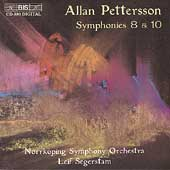 Pettersson: Symphonies no 8 & 10 / Segerstam, Noork&#246;ping SO