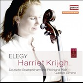 Elegy:' Works for Cello & Orchestra, by Saint-Saëns, Dvorák, Bloch, Tchaikovsky et al. / Harriet Krijgh, cello;  Deutsche Staatsphilharmonie Rheinland-Pfalz; Gimeno  [CD+DVD]