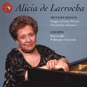 Mendelssohn: Songs without Words;  Chopin / de Larrocha
