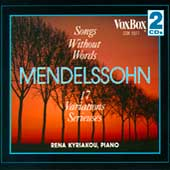 Mendelssohn: Songs Without Words / Rena Kyriakou