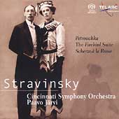 Stravinsky: Petrouchka, Firebird Suite, Scherzo / P. J&#228;rvi