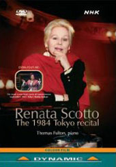 Renata Scotto: The 1984 Tokyo Recital; Thomas Fulton, piano / Works by A. Scarlatti, Rossini, Verdi, Puccini et al [DVD]
