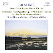 Brahms: Four Hand Piano Music Vol 16 / Matthies, Köhn