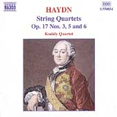 Haydn: String Quartets Op 17 no 3, 5 & 6 / Kodály Quartet