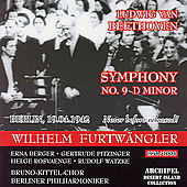 Beethoven: Symphony no 9 / Furtw&#228;ngler, et al