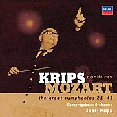 Mozart: Symphonies 21 - 41 / Krips, Concertgebouw Orchestra