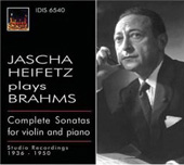 Brahms: Complete Sonatas for Violin & Piano / Jascha Heifetz