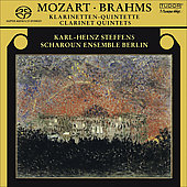 Mozart, Brahms: Clarinet Quintets / Steffens, et al
