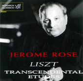 Liszt: Transcendental Etudes / Jerome Rose, piano
