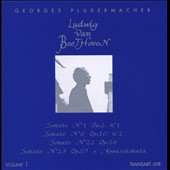 Georges Pludermacher / Beethoven Piano Sonatas, Vol. 1