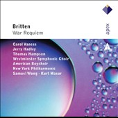 Britten: War Requiem / Carol Vaness, Jerry hadley, Thomas hampson. Kurt Masur