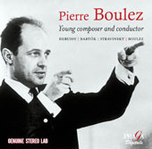 Pierre Boulez - Young Composer and Conductor. Works by Debussy, Bartók, Stravinsky, Boulez / Yehudi Menuhin