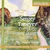 Taneyev: String Quartets Vol 1 / Tanayev String Quartet