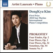 Prokofiev: Etudes, Op. 2; Pieces, Opp. 3 & 32; Sonatinas, Op. 54; Sonata No. 5 / DongKyu Kim, piano
