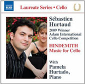 Hindemith: Music for Cello: Cello Sonata; Solo Cello Sonata; Three Pieces, Op. 8 / Sébastien Hurtaud, cello; Pamela Hurtado, piano