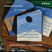 Francis Poulenc: The Songs of Poems by Paul Eluard / Pierre-Yves Pruvot, baritone; Charles Bouisset, piano
