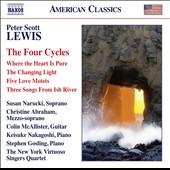 Peter Scott Lewis (b.1953) 'The Four Cycles' - complete vocal works to date. Christine Abraham, mz; Susan Narucki, sop; Colin McAllister, guitar; Stephen Gosling, piano