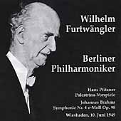 Wilhelm Furtw&#228;ngler dirigiert Pfitzner, Brahms / Berliner