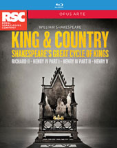 William Shakespeare - 'King & Country', Shakespeare's Great Cycle of Kings: Richard II; Henry IV, part 1; Henry IV, part 2; Henry V / Live from Stratford-Upon-Avon, Royal Shakespeare Company [4 Blu-ray]