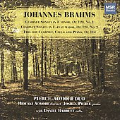 Brahms: Clarinet Sonatas, Clarinet Trio / Aomori, Pierce, Barrett