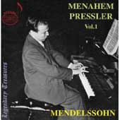 Menahem Pressler, Vol. 1 - Mendelssohn