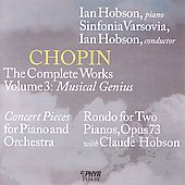 Chopin: The Complete Works, Vol. 3 / Ian Hobson, piano