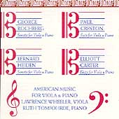 American Music for Viola & Piano / Wheeler, Tomfohrde