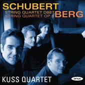 Schubert: String Quartet D877; Berg String Quartet Op. 3 / Kuss Quartet